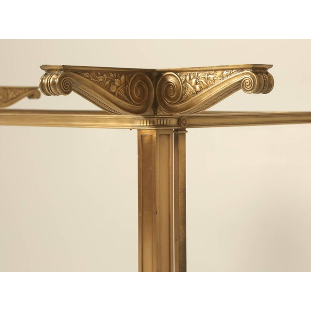 Vintage Bronze Table or Kitchen Island Base For Sale - Image 10 of 11