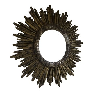 Antique Italian Sunburst Mirror For Sale