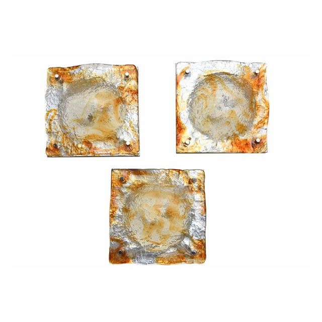 These beautiful Murano Italian wall sconces have great ambient lighting . They become a sculptural entity on the wall as a...