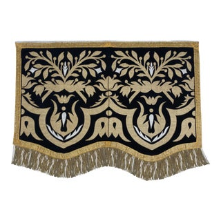 19th Century Italian Metallic Appliqued Textile For Sale