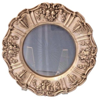 Francis I by Reed & Barton Old Sterling Silver Lemon Plate With Glass For Sale