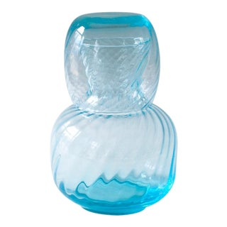Bedside Blue Glass Carafe Set