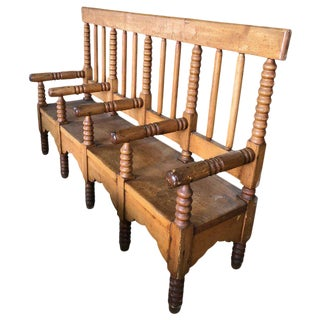 Late 19th Century Antique Wood Bench For Sale