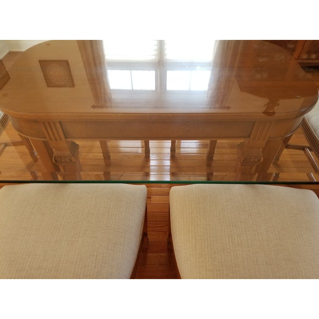 Brown 1930's Myrtlewood Dining Table and Chairs (1 of 3 Listings) For Sale - Image 8 of 11