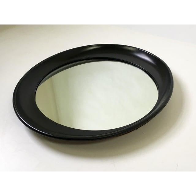 Modern Oval Framed Mirror - Image 4 of 7