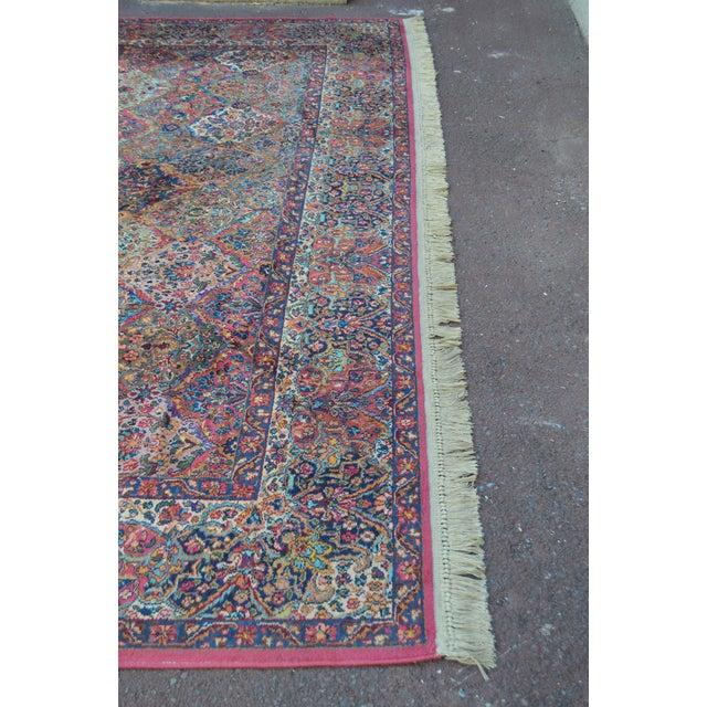 Karastan #717 Multi Panel Kirman Large Room Size Rug For Sale - Image 4 of 13