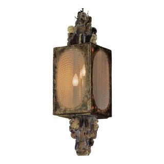 1970s Brutalist Tom Greene Feldman Lamp Co. Pendant Chandelier