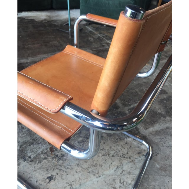 Mart Stam Ten Italian Leather Armchairs, 1950s For Sale In Los Angeles - Image 6 of 11