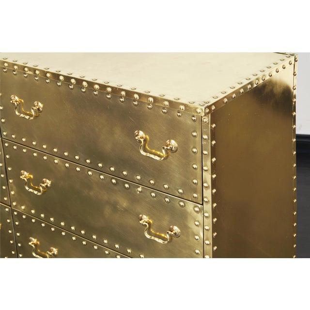 Vintage Brass Dresser by Sarreid For Sale In Los Angeles - Image 6 of 9