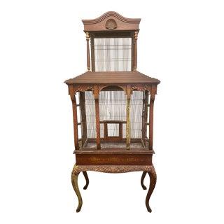 19th Century Vintage Three Piece Bird Cage For Sale