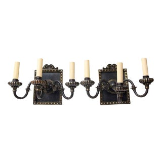 1920s Tudor Style English Sconces - A Pair For Sale