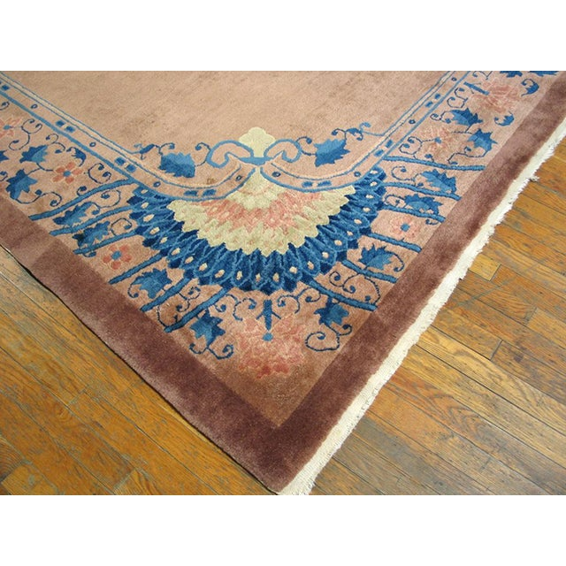 Art Deco Chinese Art Deco Art Novena Style Rug-7′10″ × 9′10″ For Sale - Image 3 of 4