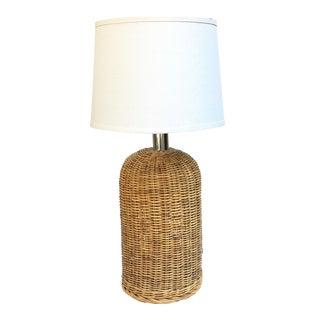 Vintage Raymor Tony Paul Mid-Century Modern Wicker Lamp For Sale