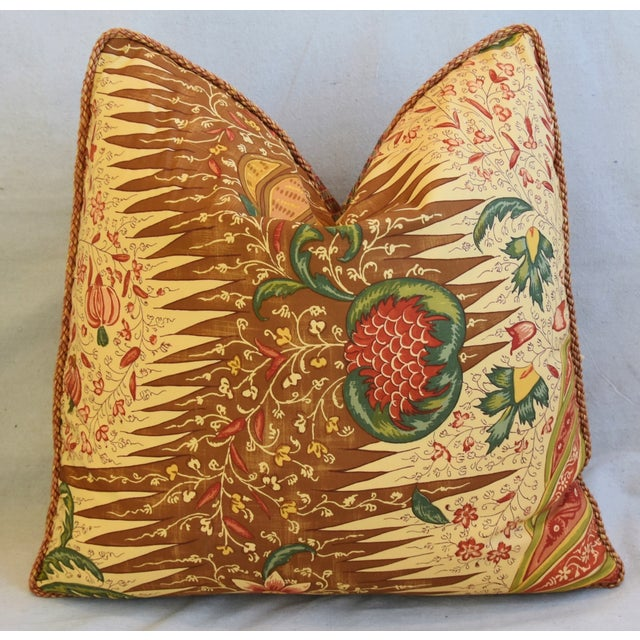 """Early 21st Century French Pierre Frey La Riviere Feather/Down Pillows 21"""" Square - Pair For Sale - Image 5 of 12"""