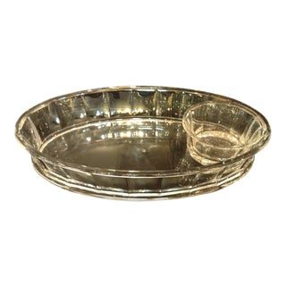 Mid-Century Modern Lucite Two-Part Oval Serving Dish For Sale