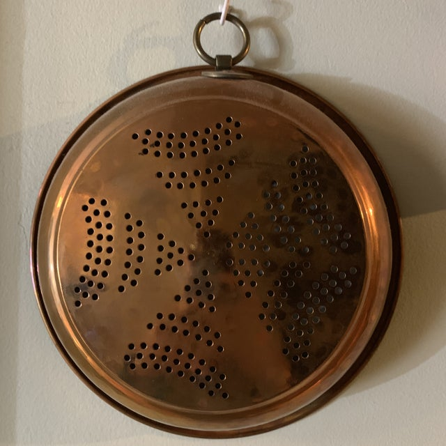 Vintage French Country Copper Strainer For Sale - Image 10 of 10
