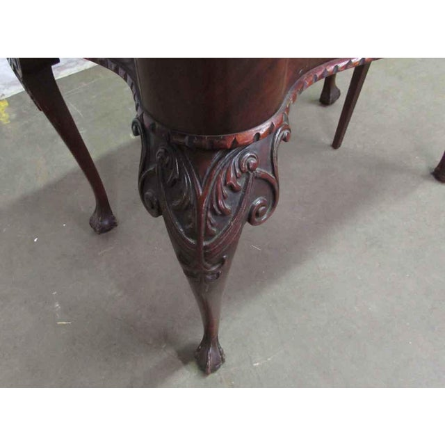 Leather Top Console Table For Sale - Image 9 of 10