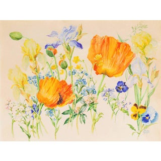 Grand Duchess Olga Alexandrovna Spring Flowers Circa 1935 For Sale