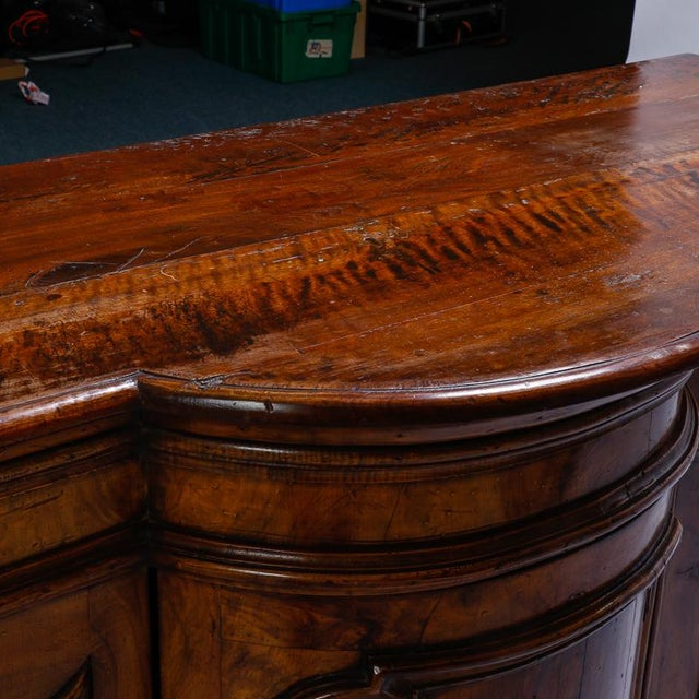 Mid 19th Century 19th Century Burl Walnut Cabinet With Rounded Front and Original Keys For Sale - Image 5 of 10