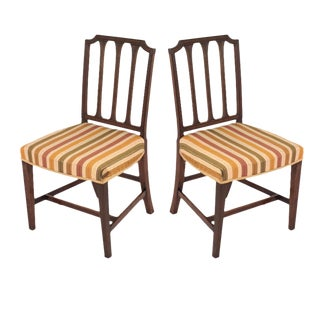 Sheraton Style Mahogany Chairs - A Pair
