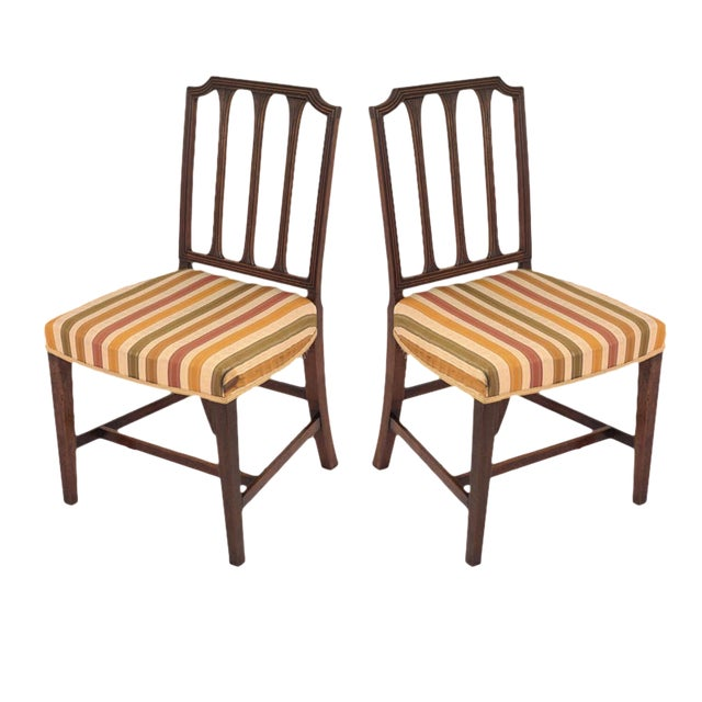 Sheraton Style Mahogany Chairs - A Pair For Sale