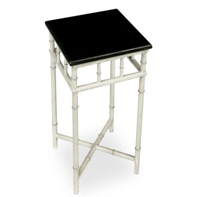 Sarreid Ltd. Sarreid LTD Metal & Marble Side Table For Sale - Image 4 of 6