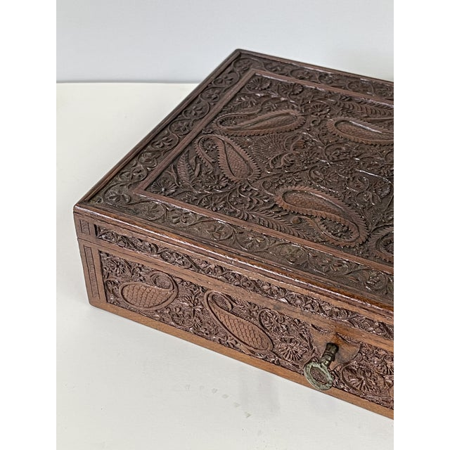 Early 20th Century Wooden Carved Box For Sale - Image 12 of 13