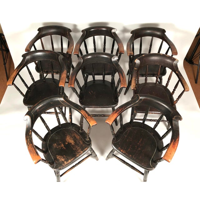 Set of 8 Matched Captain's Dining Chairs For Sale - Image 9 of 13