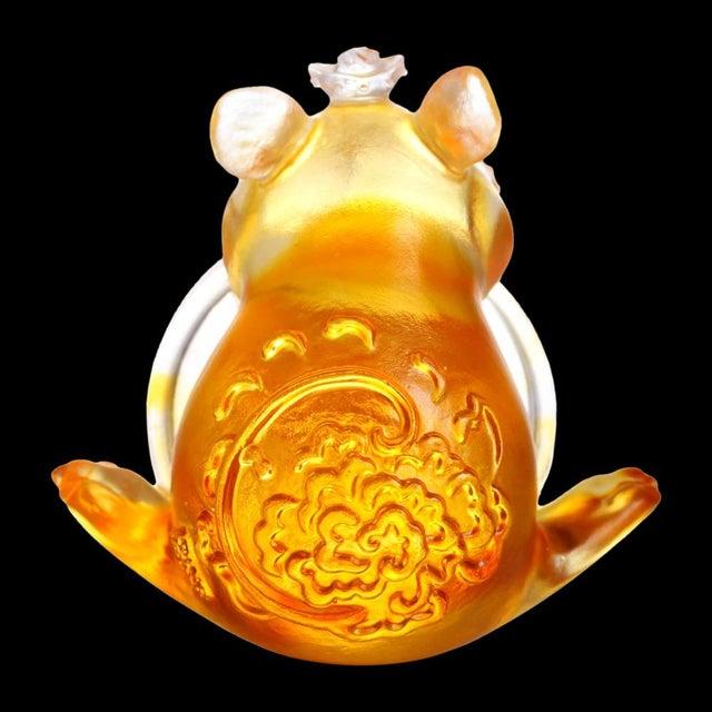 "LIULI Crystal Art Liuli Crystal Art Crystal Limited Edition Mouse ""Unshakable"" Zodiac Sculpture For Sale - Image 4 of 5"