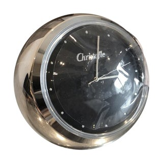 Christofle Silver Boulle Desk Clock For Sale