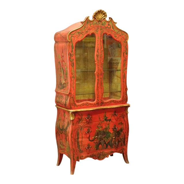 Irwin & Lane James Reynolds Chinoiserie Display Case on Commode For Sale