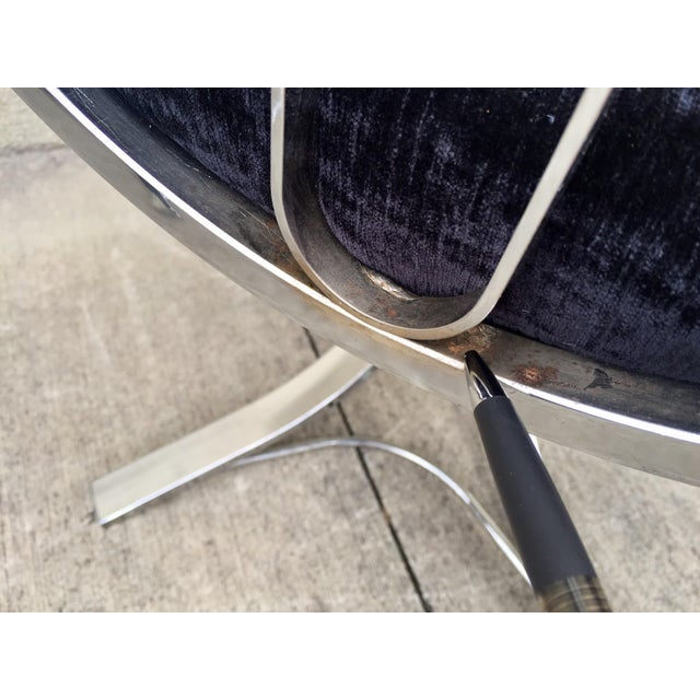 Mid-Century Chrome Swivel Chairs- Set of 6 - Image 10 of 11