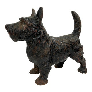 Vintage Cast Iron Scotty Dog Door Stop For Sale