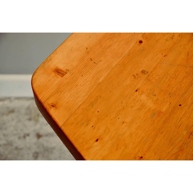 Charlotte Perriand Pentagonal Pine Table by Charlotte Perriand for 'Les Arcs' Ski Resort For Sale - Image 4 of 9