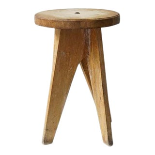 Vintage Wooden Table/Stool For Sale
