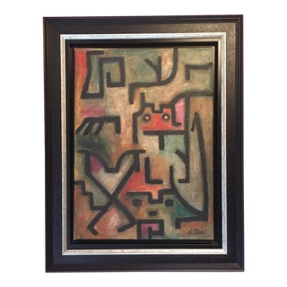 Abstract Expressionist Framed Painting For Sale