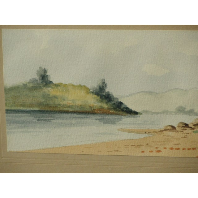 Antique Landscape Watercolor by Hasson - Image 4 of 9