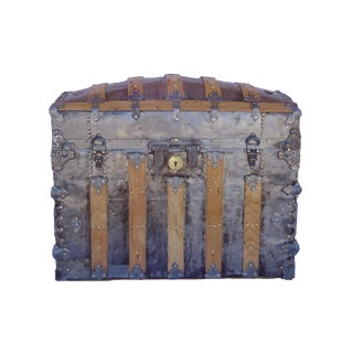 Antique Barrel Top Trunk For Sale