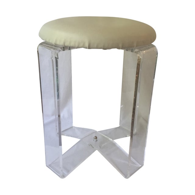 Vintage Lucite Stool - Image 1 of 8
