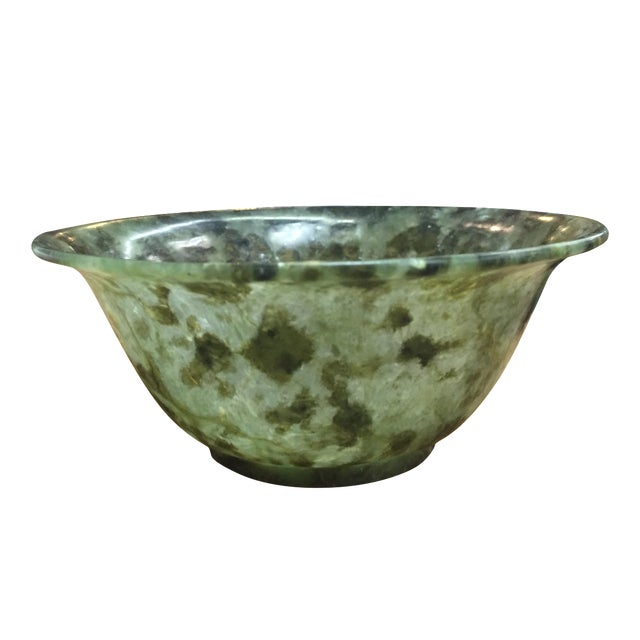 Chinese Spinach Jade Bowl - Image 1 of 7