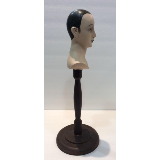 Plaster Mime Bust on Stand - Image 5 of 6