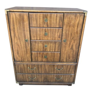 Mid 20th Century Campaign Drexel Heritage Accolade Dresser For Sale