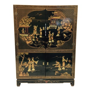 Vintage Chinoiserie Chest For Sale
