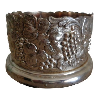 1930s Vintage Silver Plate Wine Coaster For Sale