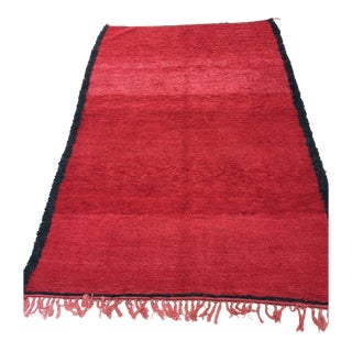 Bohemian Moroccan Shaggy Pile Vintage Rug For Sale
