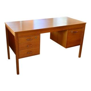 Mid Century Modern Teak Desk For Sale