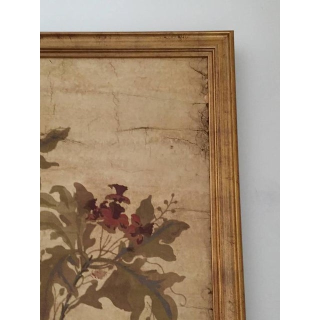 Large Decorative Painted Panel in Gilt Frame For Sale - Image 4 of 7