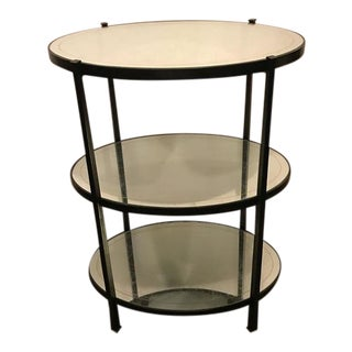 Jonathan Charles Three-Tier Eqlomise Side Table For Sale