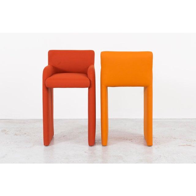 Milo Baughman Gradient Stool Chairs - Set of 4 - Image 5 of 9