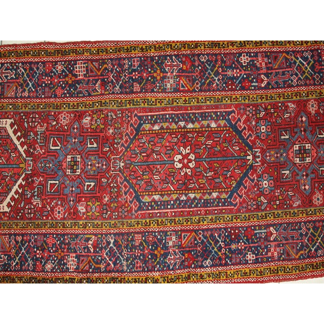 1920s Handmade Antique Persian Karajeh Runner - 3.5' X 10.8' - Image 6 of 10
